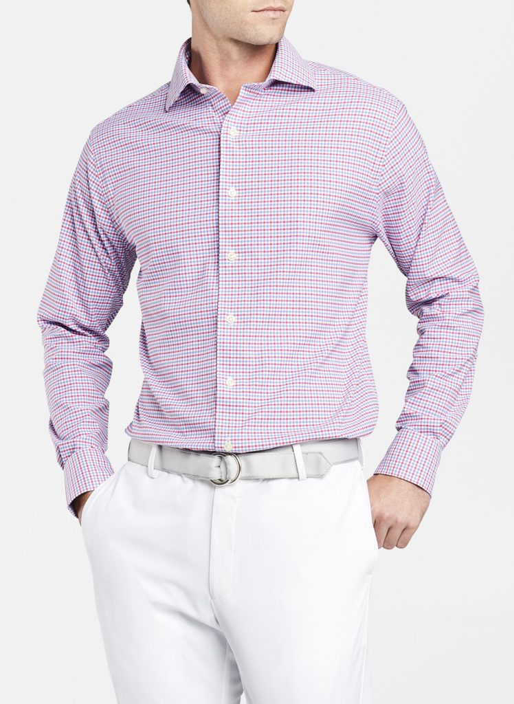 ARMSTRONG CROWN CRAFTED CHECK OXFORD SPORT SHIRT