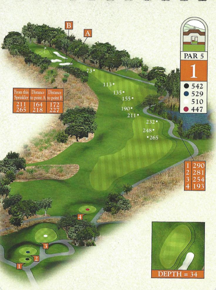 1st hole / 542 Yards / Par-5