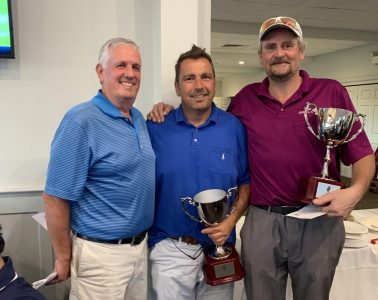 Photo L to R: Kevin Nery, Chairman, Paul DeBortoli and Jason Cook, Champions
