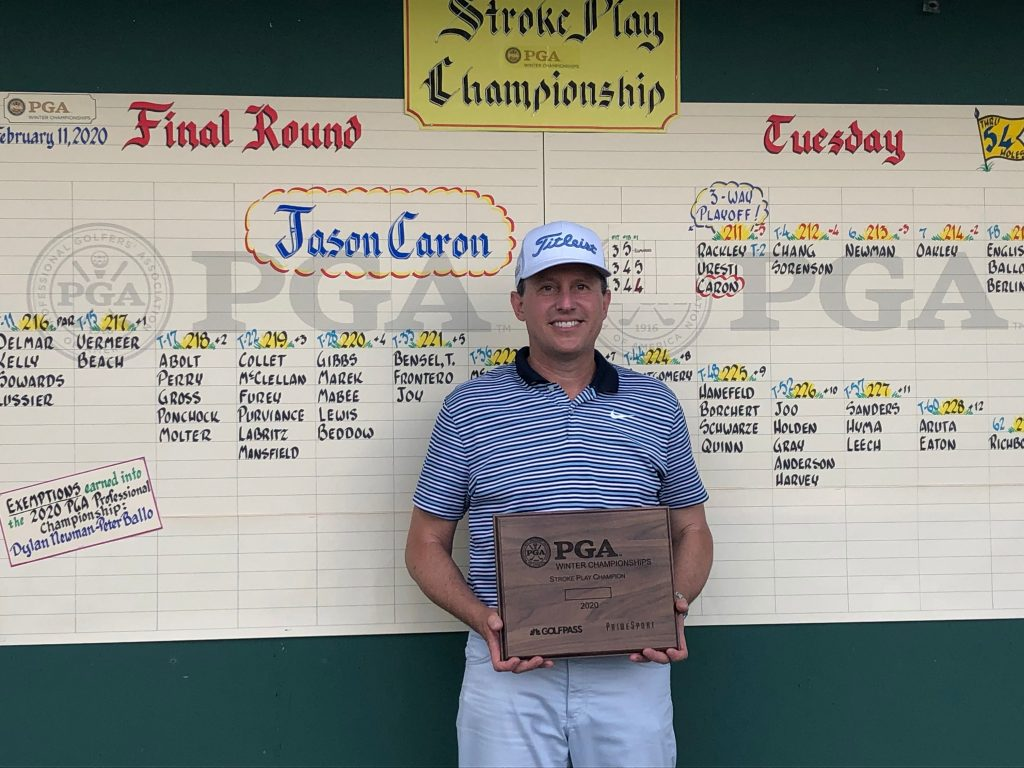 New York's Jason Caron Wins Playoff To Claim PGA Stroke Play Championship